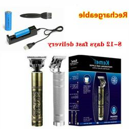 KEMEI Portable Men Electric Cordless Hair Clippers Trimmer S