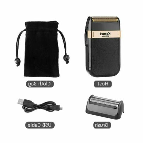 Electric Shaver Razor Rechargeable Shaving Machine Twin Blade for