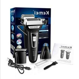 Kemei Men's Electric Shaver Rechargeable Trimmer Nose Hair C