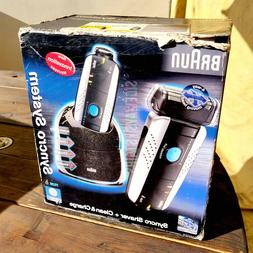 BRAUN SYNCRO SYSTEM Shaver + Clean & Charge 7526 electric co